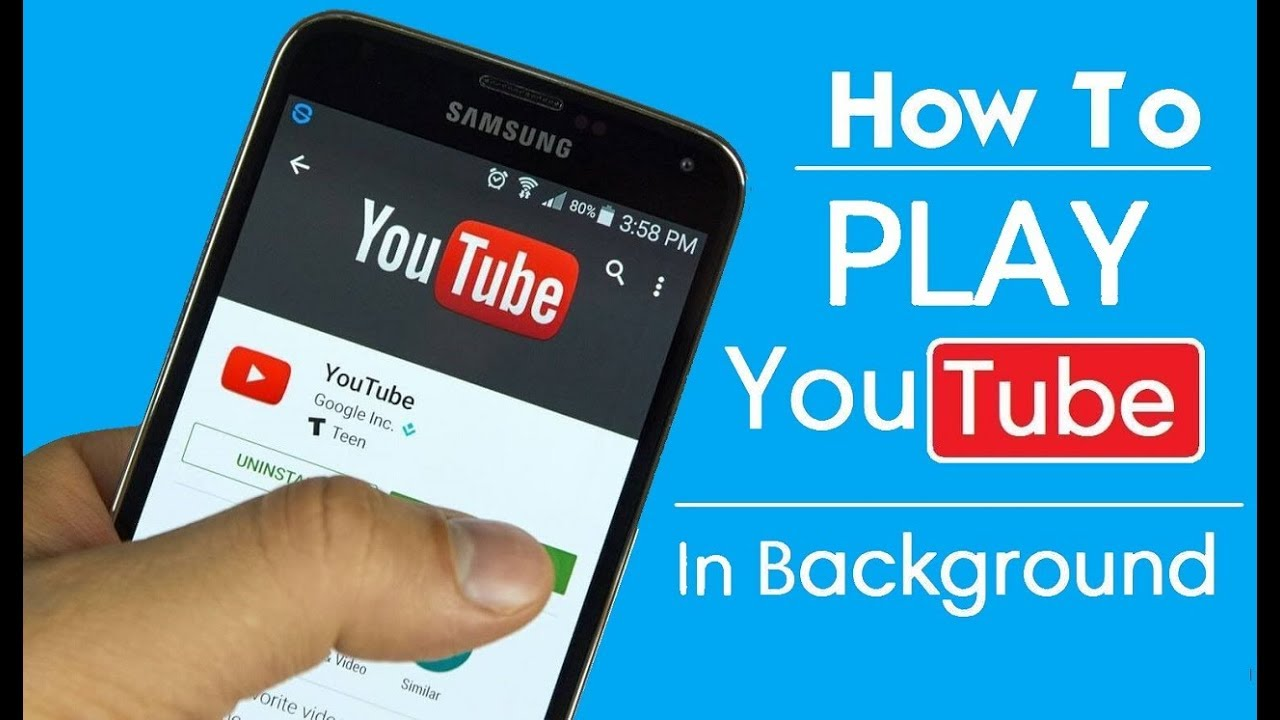 Play music on youtube in background
